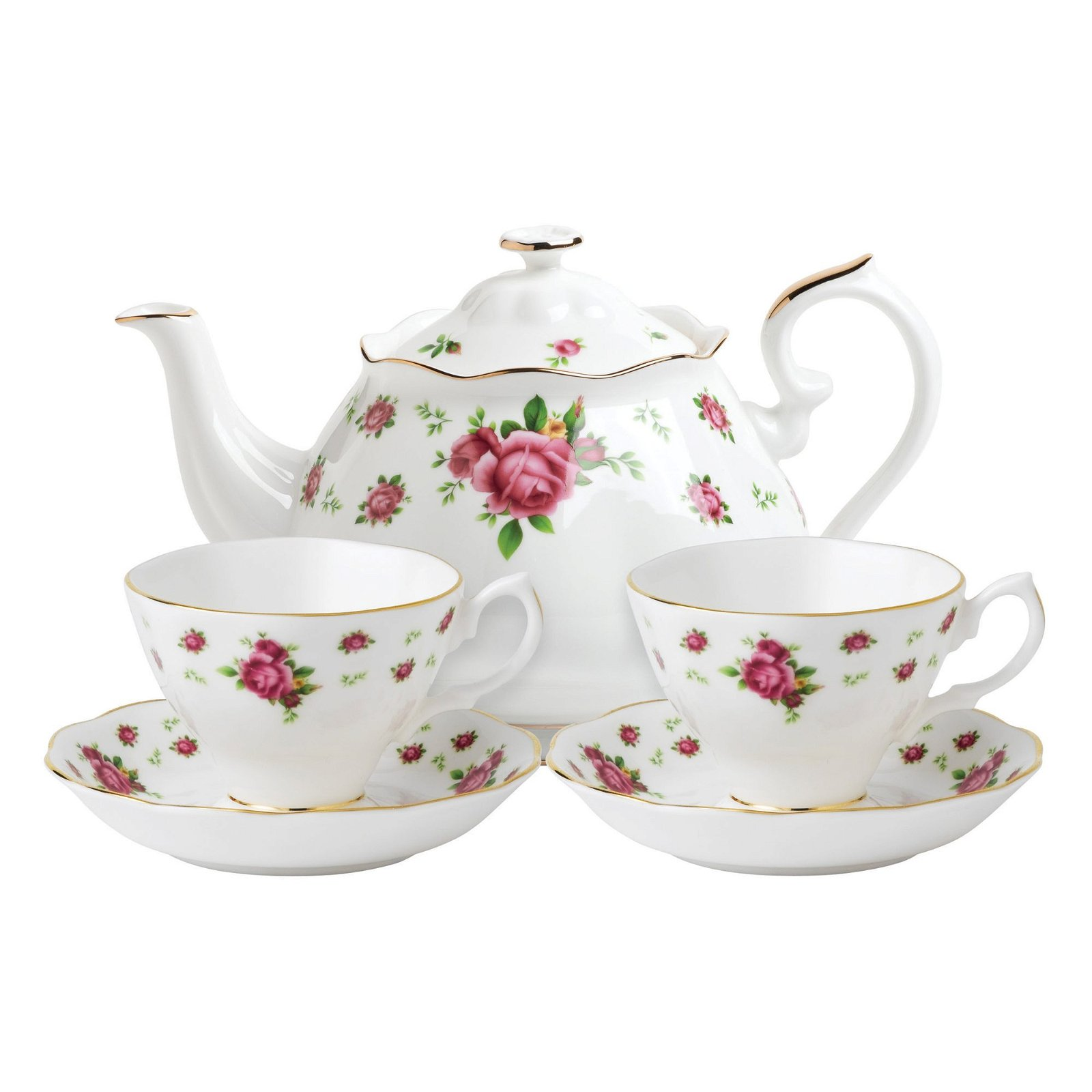 Royal Albert New Country Roses White Tea For Two   Ifmal.com